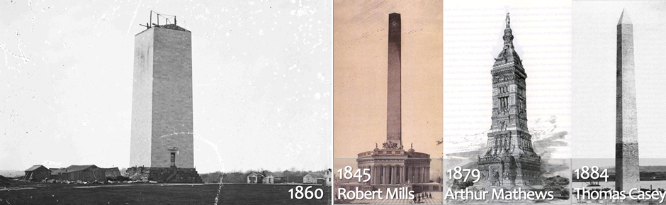Critics complained during construction that a giant obelisk was the wrong symbol for America, and alternatives were proposed.